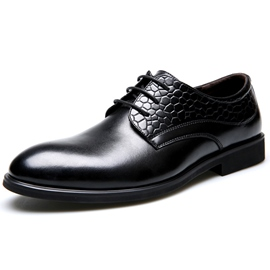 Ericdress Croco Patchwork Lace up Men's Oxfords