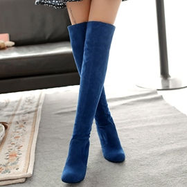 Ericdress Bright Suede Thigh High Boots