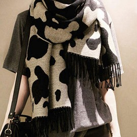 Ericdress Cow Printed Imitation Cashmere Women's Scarf