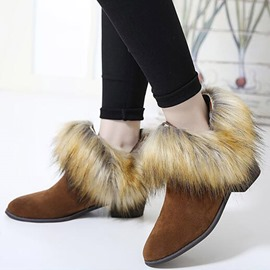 Ericdress Amazing Suede Furry Point Toe Martin Boots