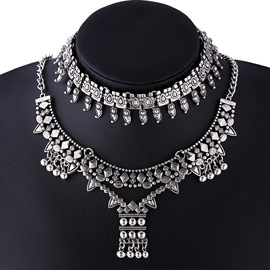 Ericdress Retro Alloy Statement Necklace