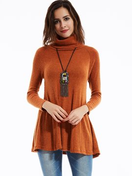 Ericdress Plain Slim Pullover Turtleneck Casual Knitwear