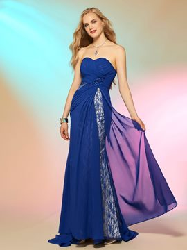 Ericdress Sexy Sheath/Column Sweetheart Lace Chiffon Prom Dress