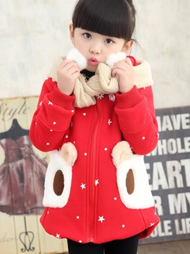 Ericdress Cute Bear Like hooed Girls Coat