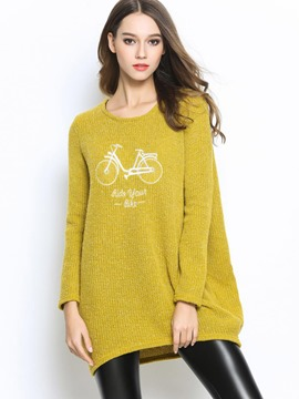 Ericdress Bicycle Crochet Loose Pullover Knitwear
