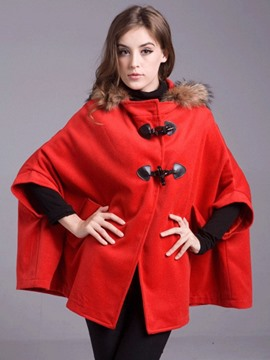 Ericdress Horn-Button Batwing Cape