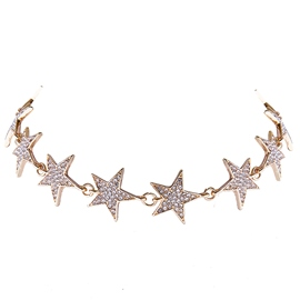Ericdress Shining Stars Design Alloy Choker Necklace