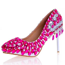 Ericdress Rose Rhinestone Ultra-High Heel Wedding Shoes