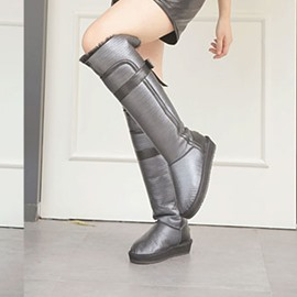 Ericdress Chic Elevator Heel Knee High Snow Boots