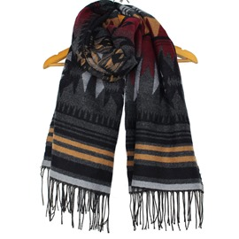 Ericdress Imitation Cashmere Long Tassels Scarf