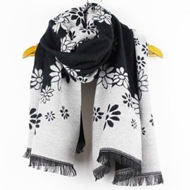 Ericdress Colorful Flowers Imitation Cashmere Scarf