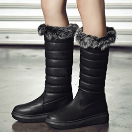 Ericdress Charming Furry Knee High Snow Boots