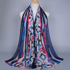 Ericdress Geometric Pattern Printed Voile Women's Scarf