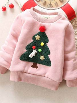 Ericdress Christmas Tree Pattern Thickening Girls Hoodie