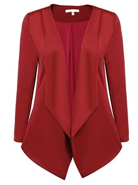Ericdress Loose Turn-Down Solid Color Blazer