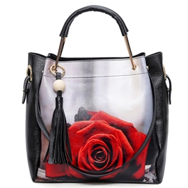 Ericdress All Match Figure Print Tassel Handbag