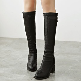Ericdress Roman PU Rhinestone Knee High Boots
