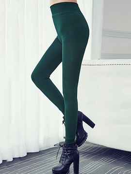 Ericdress High-Waist Thick Leggings Pants