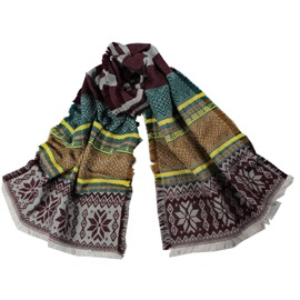 Ericdress Winter Warm Snowflake Jacquard Scarf