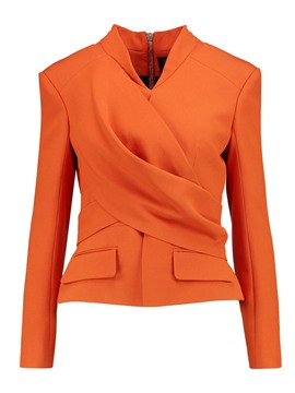 Ericdress Solid Color V-Neck Cross Blazer