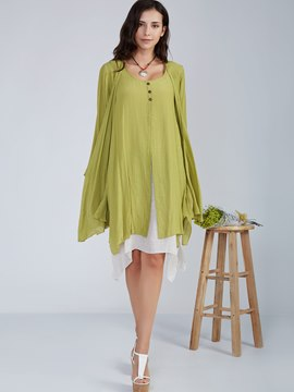 Ericdress Wrapped Cape Day Dress Suit