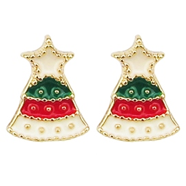 Ericdress Colorful Christmas Bell Design Earrings