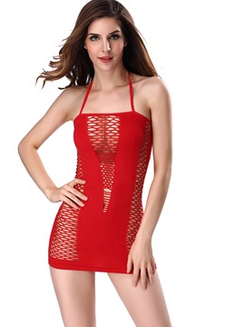 Ericdress Plain Spaghetti Strap See-Through Chemise