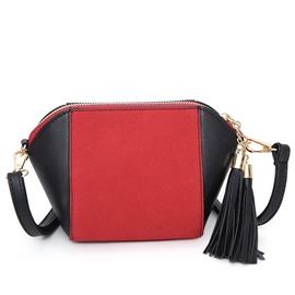Ericdress Simple Color Block Shell Crossbody Bag