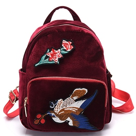 Ericdress Ethnic Embroidery Travel Backpack