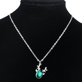 Ericdress Green Crystal Pendant Alloy Necklace