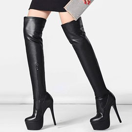 Ericdress Chic Platform Ultra-High Heel Over-the-Knee Boots