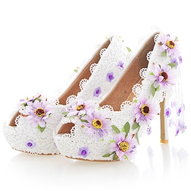 Ericdress Appliques Peep Toe Wedding Shoes