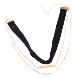 Ericdress Multilayer Alloy and Velvet Choker Necklace