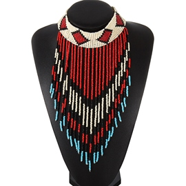 Ericdress Bohemian Colorful Beading Tassels Necklace