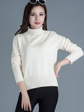 Ericdress Turtle Neck Multiple-Color Casual Knitwear