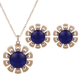 Ericdress Sun Flower Diamante Two Pieces Jewelry Set