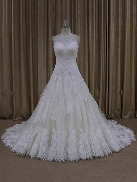Ericdress Charming Sweetheart Appliques A Line Wedding Dress