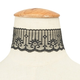 Ericdress Gothic Black Stretch Lace Choker Necklace