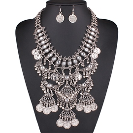 Ericdress Multilayer Head Coins Tassels Jewelry Set
