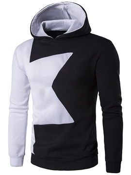 Ericdress Color Block Star Pattern Casual Pullover Men's Hoodie