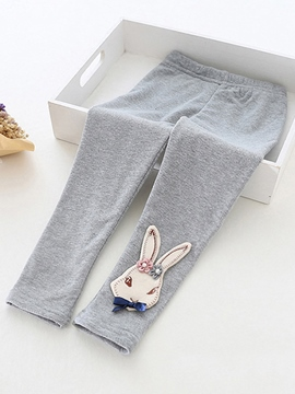 Ericdress Rabbit Embroidery Girls Leggings