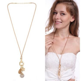 Ericdress Exquisite Flower Long Alloy Necklace