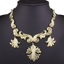 Ericdress Retro Alloy Carved Necklace