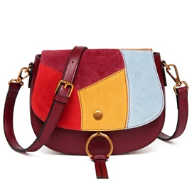 Ericdress Simple Colorful Patchwork Shoulder Bag