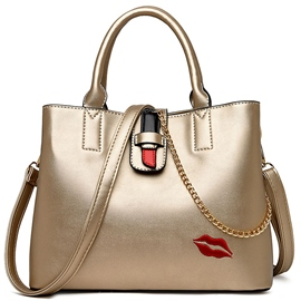 Ericdress Graceful Lips Embroidery Handbag
