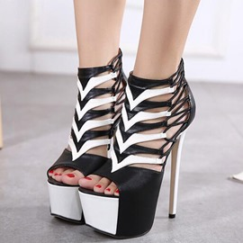 Ericdress Contrast Color Platform Ultra High Stiletto Sandals