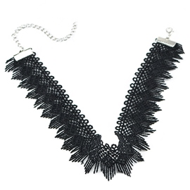 Ericdress Vintage Style Lace Tassels Choker Necklace
