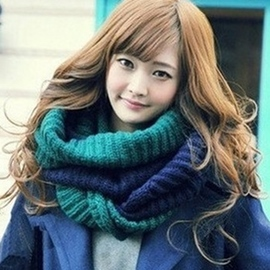 Ericdress Color Block Knitted Warm Neck Warmer