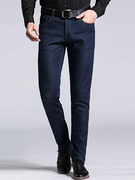 Ericdress Flocking Thicken Warm Casual Men's Jeans