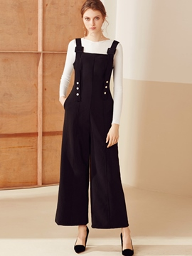 Ericdress Suspenders Wide Legs Jumpsuits Pants